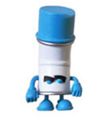 Kid Robot Blind Boxes Bent World Spray Can Blue