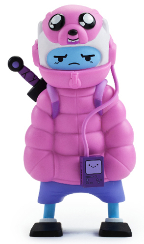 Kid Robot Adventure Time x Kidrobot Puff Jake 'n Lil Finn (Pink)