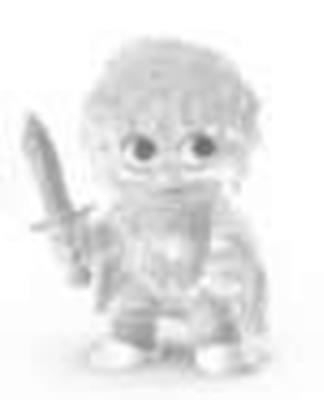 Mystery Minis Lord of The Rings Frodo Clear