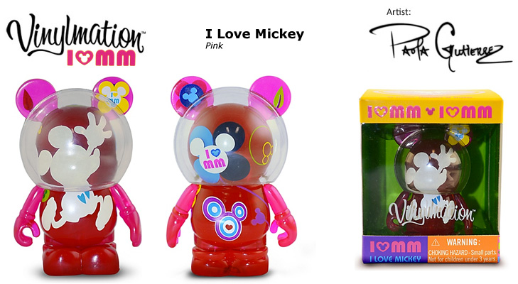Vinylmation Open And Misc I Love Mickey Pink