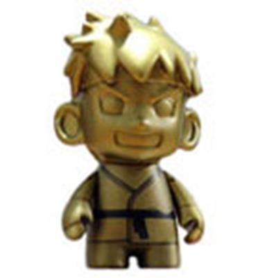 Kid Robot Street Fighter x Kidrobot Ryu (Gold)
