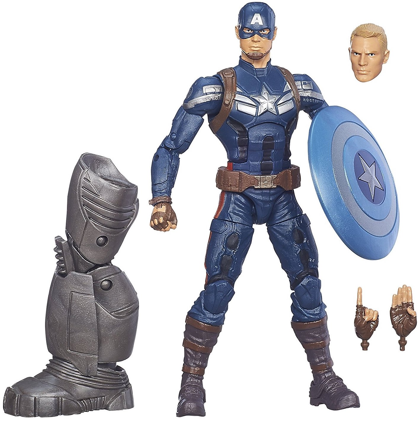 Marvel Legends Mandroid Series Captain America Stock Thumb