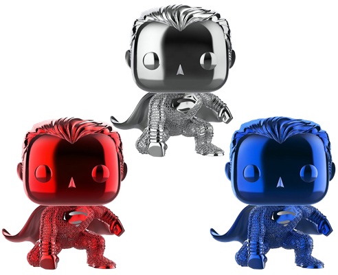 Funko Pop! Heroes Superman (Red White, & Blue Chrome) Icon