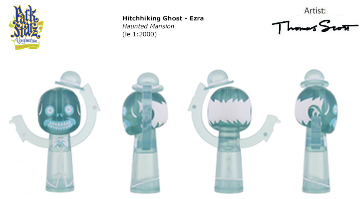 Vinylmation Open And Misc Park Starz 3 Hitchhiking Ghost - Ezra 'clear'