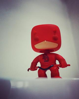 Funko Pop! Marvel Daredevil (Red) funkocommander on tumblr.com