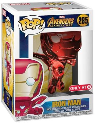 Funko Pop! Marvel Iron Man (Chrome Red) Stock