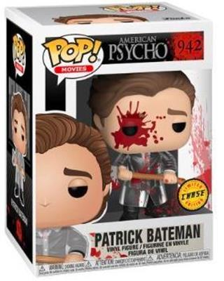 Funko Pop! Movies Patrick Bateman (with Axe) (Bloody) (Chase) Stock
