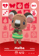 Amiibo Cards Animal Crossing Series 4 Melba