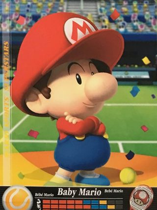 Amiibo Cards Mario Sports Superstars Baby Mario - Tennis Icon