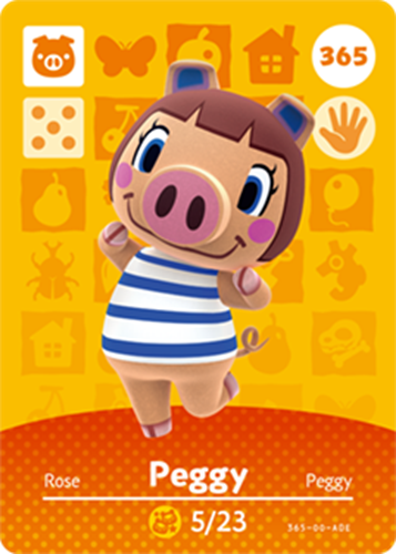 Amiibo Cards Animal Crossing Series 4 Peggy
