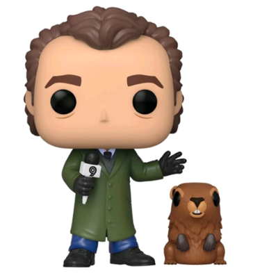 Funko Pop! Movies Phil Connors With Punxsutawney Phil Icon
