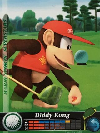 Amiibo Cards Mario Sports Superstars Diddy Kong - Golf Icon