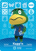 Amiibo Cards Animal Crossing Series 1 Kapp'n