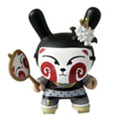 Kid Robot Special Edition Dunny Kitsune (Black) Stock