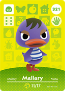 Amiibo Cards Animal Crossing Series 4 Mallary