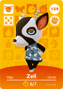 Amiibo Cards Animal Crossing Series 2 Zell