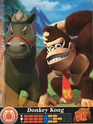Amiibo Cards Mario Sports Superstars Donkey Kong - Horse Racing Stock