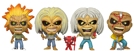 Funko Pop! Rocks Iron Maiden Eddie, Killers Eddie, Number of the Beast Eddie, and Piece of Mind Eddie (Glows in the Dark) (4-Pack)
