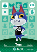 Amiibo Cards Animal Crossing Series 2 Tom