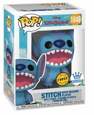Funko Pop! Disney Stitch with Record Player (Chase) Stock
