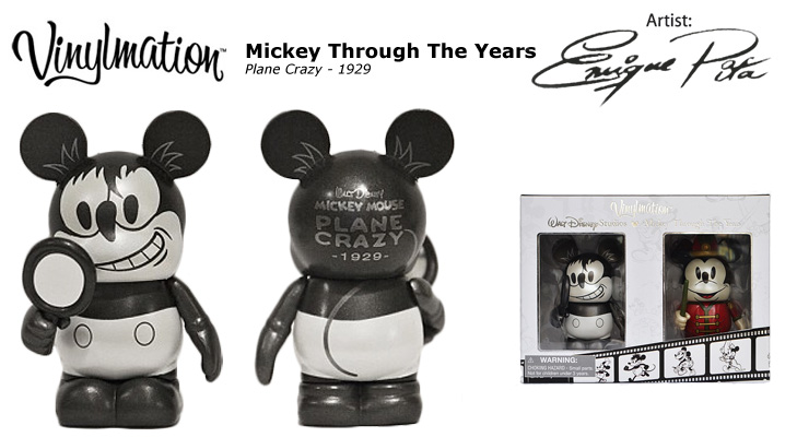 Vinylmation Open And Misc Mickey Through the Years Plane Crazy - 1929
