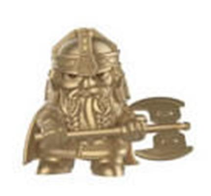 Mystery Minis Lord of The Rings Gimli Gold