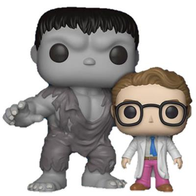 Funko Pop! Marvel Hulk and Bruce Banner Icon