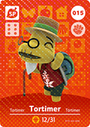 Amiibo Cards Animal Crossing Series 1 Tortimer