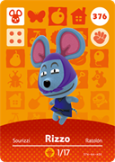 Amiibo Cards Animal Crossing Series 4 Rizzo