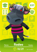 Amiibo Cards Animal Crossing Series 3 Rodeo