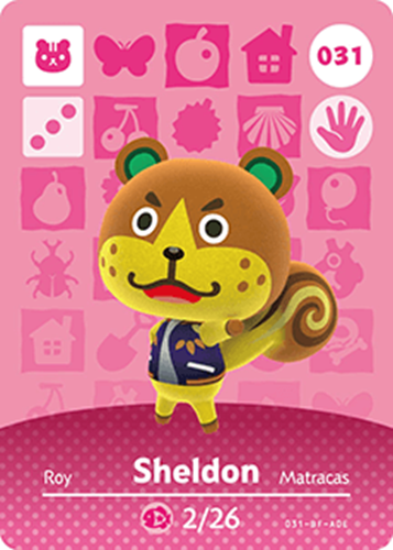 Amiibo Cards Animal Crossing Series 1 Sheldon