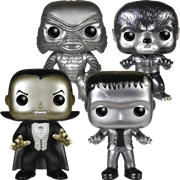 Funko Pop! Movies Universal Monsters (4-Pack) - B&W Metallic