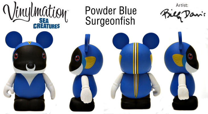 Vinylmation Open And Misc Sea Creatures Powder Blue Surgeonfish