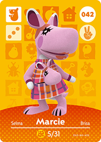 Amiibo Cards Animal Crossing Series 1 Marcie