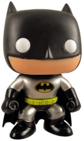 Funko Pop! Heroes Batman (Yellow Symbol) (Metallic) Icon