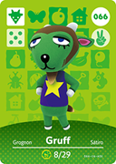 Amiibo Cards Animal Crossing Series 1 Gruff