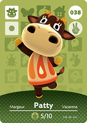Amiibo Cards Animal Crossing Series 1 Patty