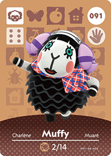 Amiibo Cards Animal Crossing Series 1 Muffy