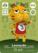 Amiibo Cards Animal Crossing Series 1 Leonardo