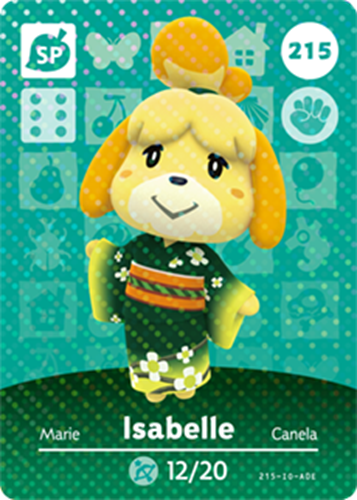 Amiibo Cards Animal Crossing Series 3 Isabelle