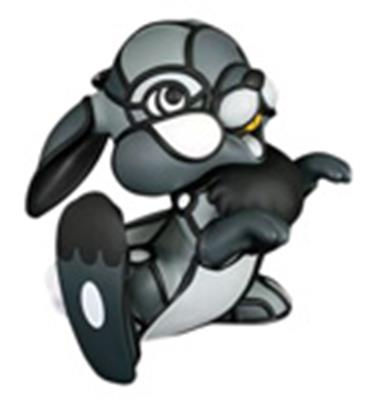 Kid Robot Art Figures Thumper (Grey)
