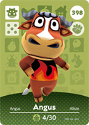 Amiibo Cards Animal Crossing Series 4 Angus
