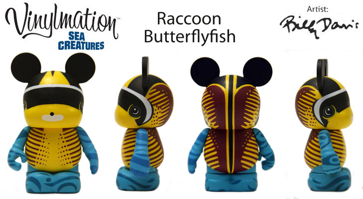 Vinylmation Open And Misc Sea Creatures Raccoon Butterfly Fish