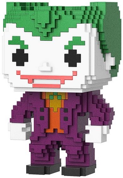 Funko Pop! 8-Bit The Joker (Metallic) - CHASE