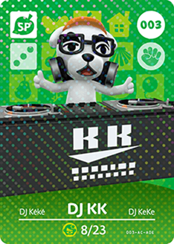 Amiibo Cards Animal Crossing Series 1 DJ KK