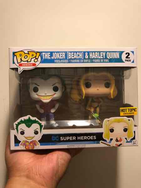 Funko Pop! Heroes The Joker and Harley Quinn (Beach) mikehilarious on covetly