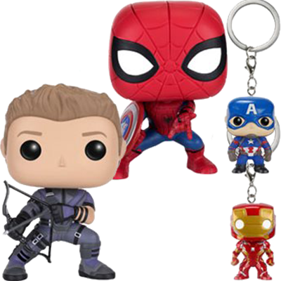 Funko Pop! Marvel Hawkeye and Spider-Man (Civil War 4-Pack)