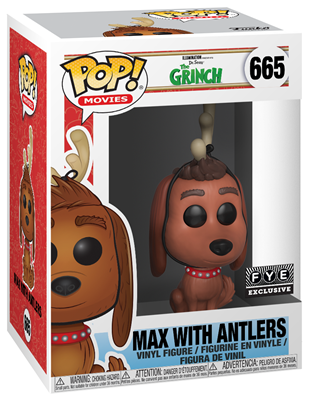 Funko Pop! Movies Max the Dog (w/ Antlers) Stock