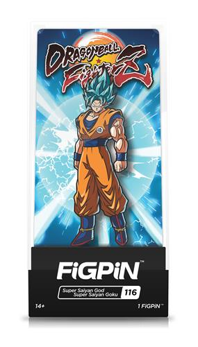 FiGPin Dragon Ball FighterZ Super Saiyan God Super Saiyan Goku Stock