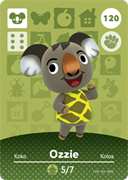 Amiibo Cards Animal Crossing Series 2 Ozzie